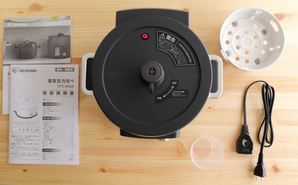 アイリスオーヤマ電気圧力鍋KPC-MA2の内容
