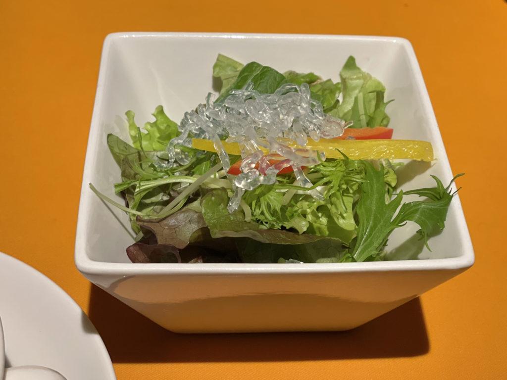 レストラン尾道レスポワールドゥカフェのランチのサラダ