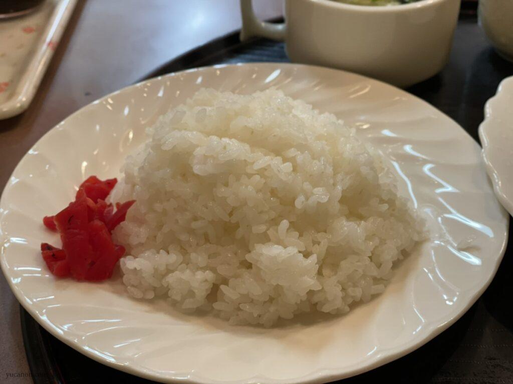 尾道「どん吉」日替わり定食のライス