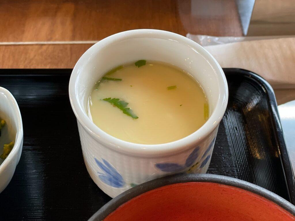 因島「六大陸」日替わり定食の茶碗蒸し